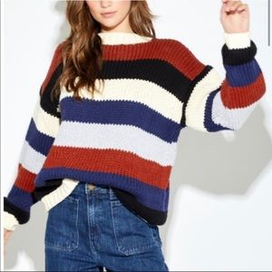 Callahan Striped Chunky Knit Dayna Sweater